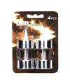 Waxinelichtjes zilver electrisch 4 stuks