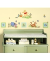 Winnie de Poeh gekleurde muur stickers