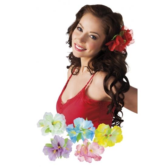 5x stuks Hawaii haarbloemen op clip