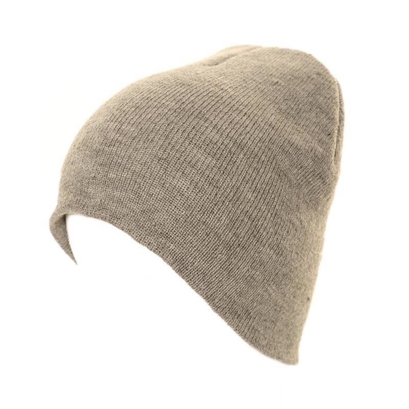 Basic winter muts/beanie grijs voor volwassenen