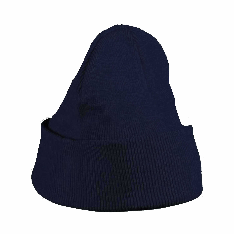 Basic winter muts navy blauw voor jongens