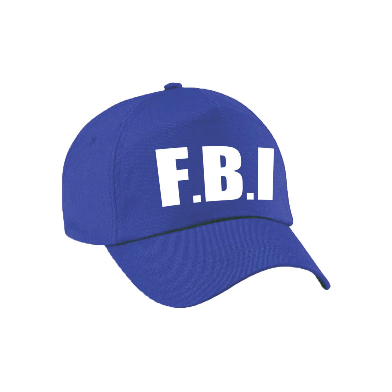 Blauwe FBI politie agent verkleed pet - cap voor volwassenen