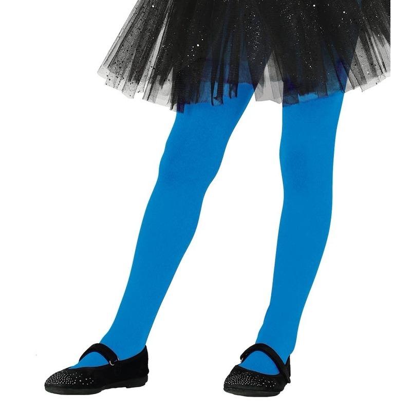 Blauwe panty 15 denier voor meisjes