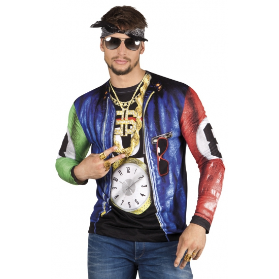Carnavalkleding met rapper print