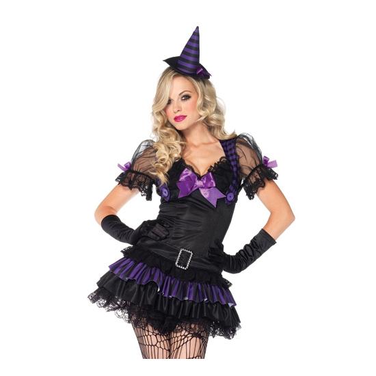Carnavalskleding heks zwart voor dames