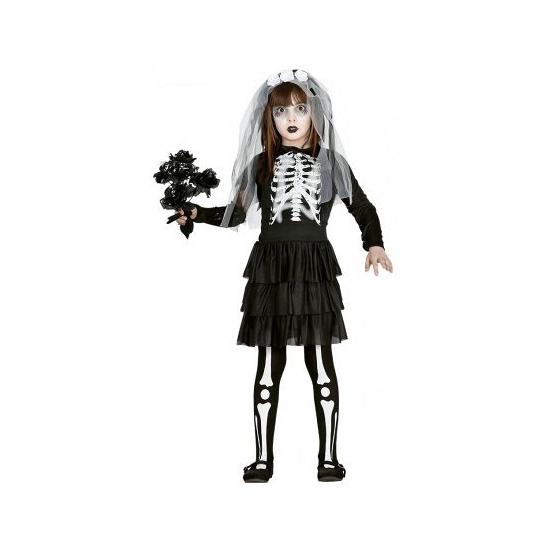 Carnavalskleding meisjes skelet jurk