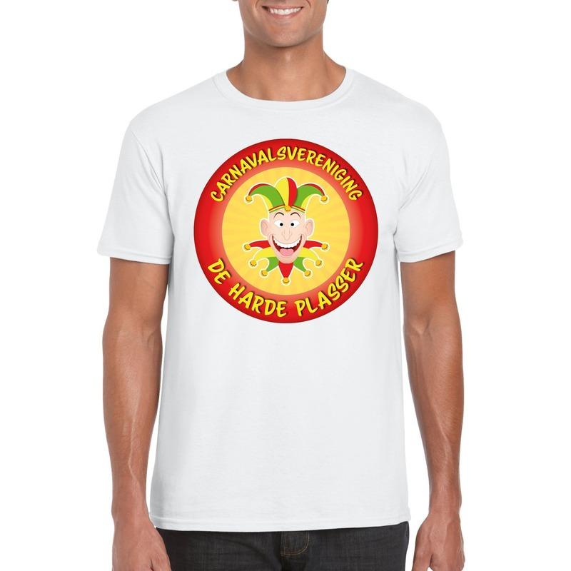 Carnavalsvereniging De Harde Plasser Limburg heren t-shirt wit