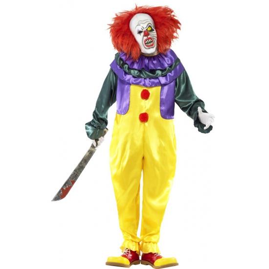 Clown kostuum met horror masker