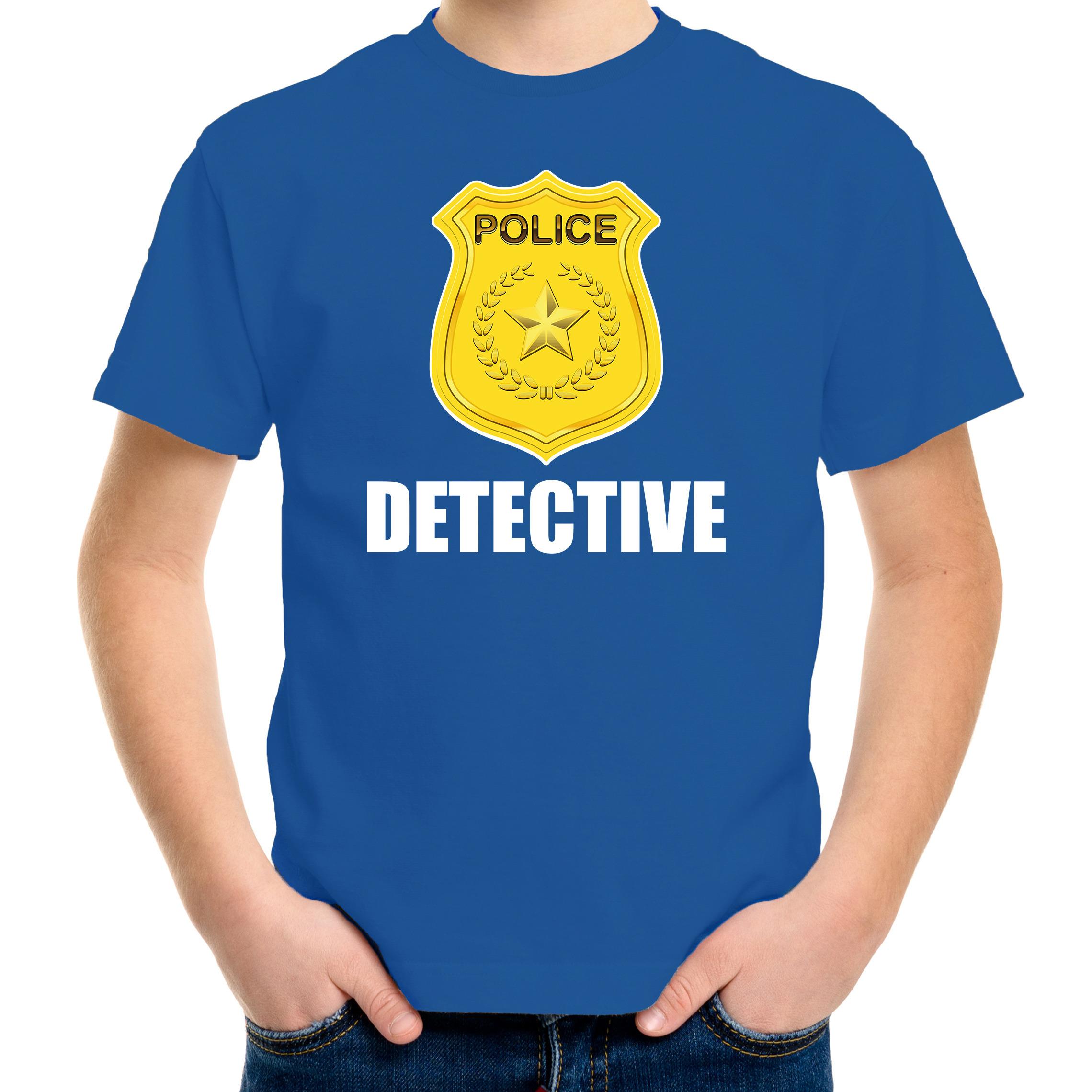 Detective police - politie embleem t-shirt blauw voor kinderen