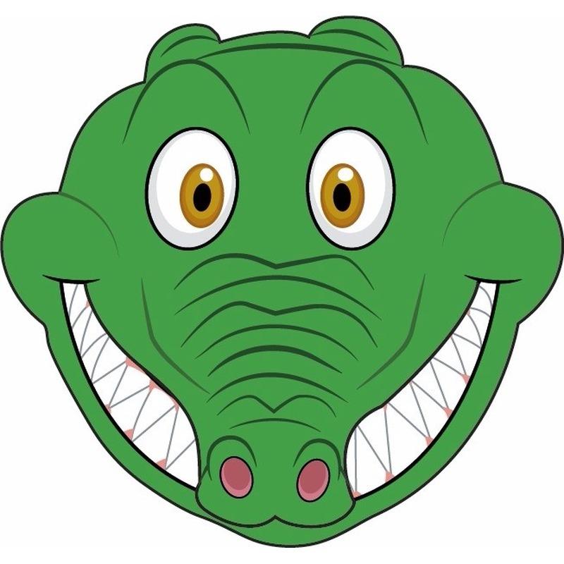 DIY krokodillen masker voor kinderen