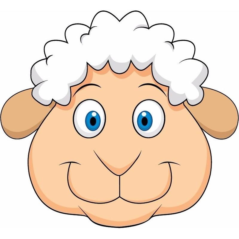 DIY schapen masker voor kinderen