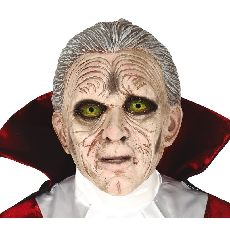 Dracula/vampier horror masker van latex