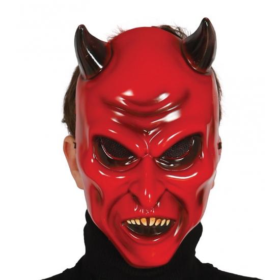 Duivel masker met hoorns voor volwassenen