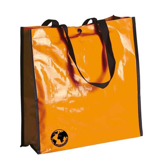 Eco shopper boodschappen opberg tas oranje 38 x 38 cm