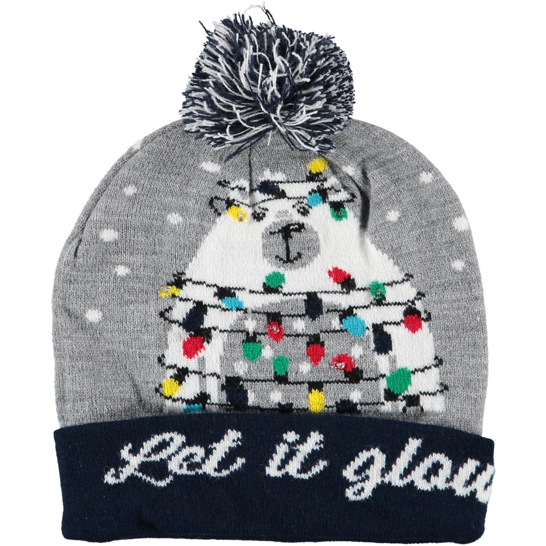 Foute kerstmutsen/mutsen/wintermutsen Let It Glow met verlichting