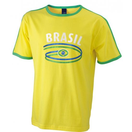 Geel heren shirt Brasil