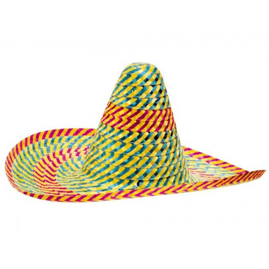 Gekleurde Mexicaanse sombrero hoeden 50 cm
