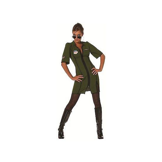 Groen piloten dames jurkje