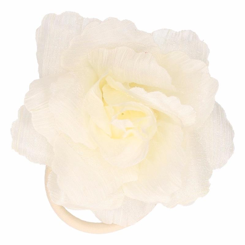 Haarbloem met klem wit/geel