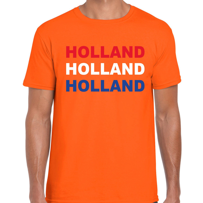 Holland - Nederland fan t-shirt oranje voor heren