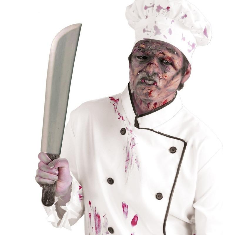 Horror slagersmes/kapmes Halloween verkleed accessoire 53 cm