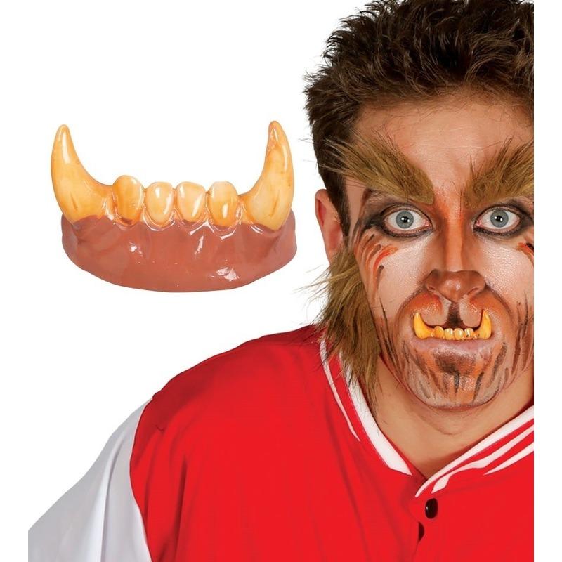 Horror weerwolf gebit/neptanden Halloween accessoire