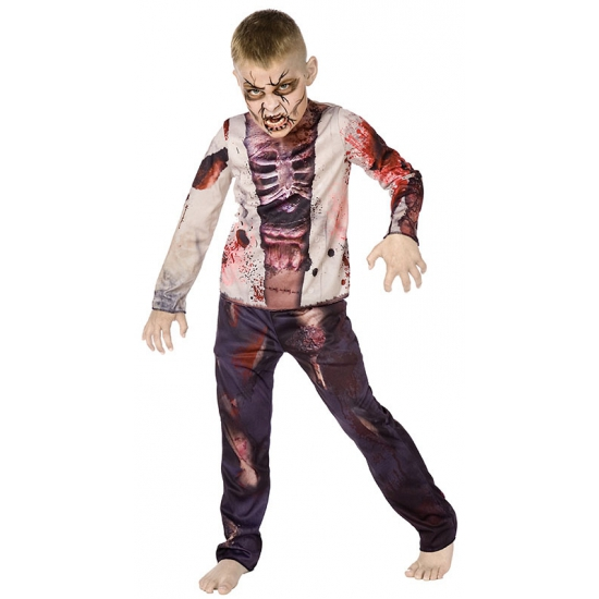 Horror zombie outfit voor kids