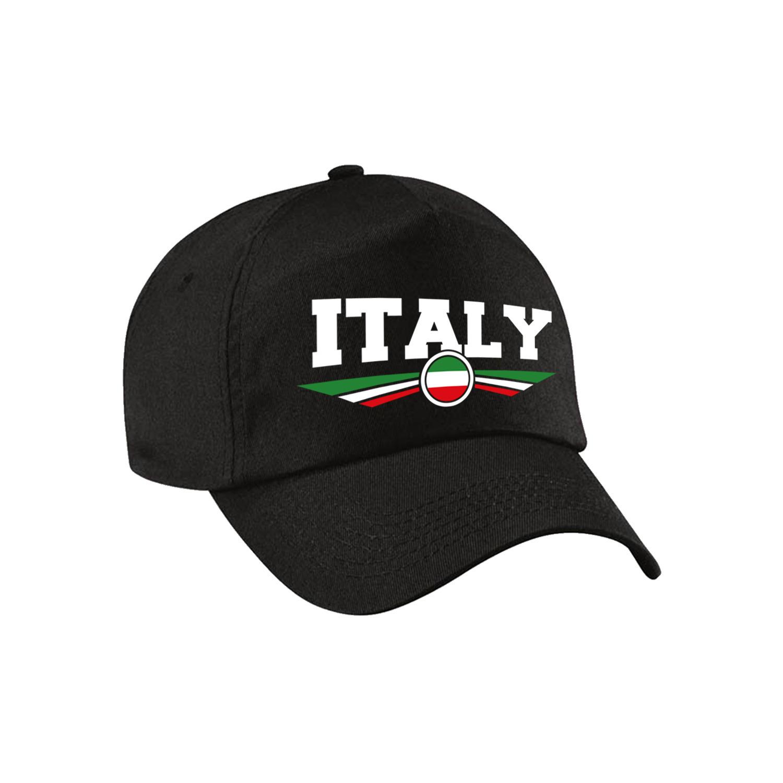 Italie - Italy landen pet - baseball cap zwart kinderen
