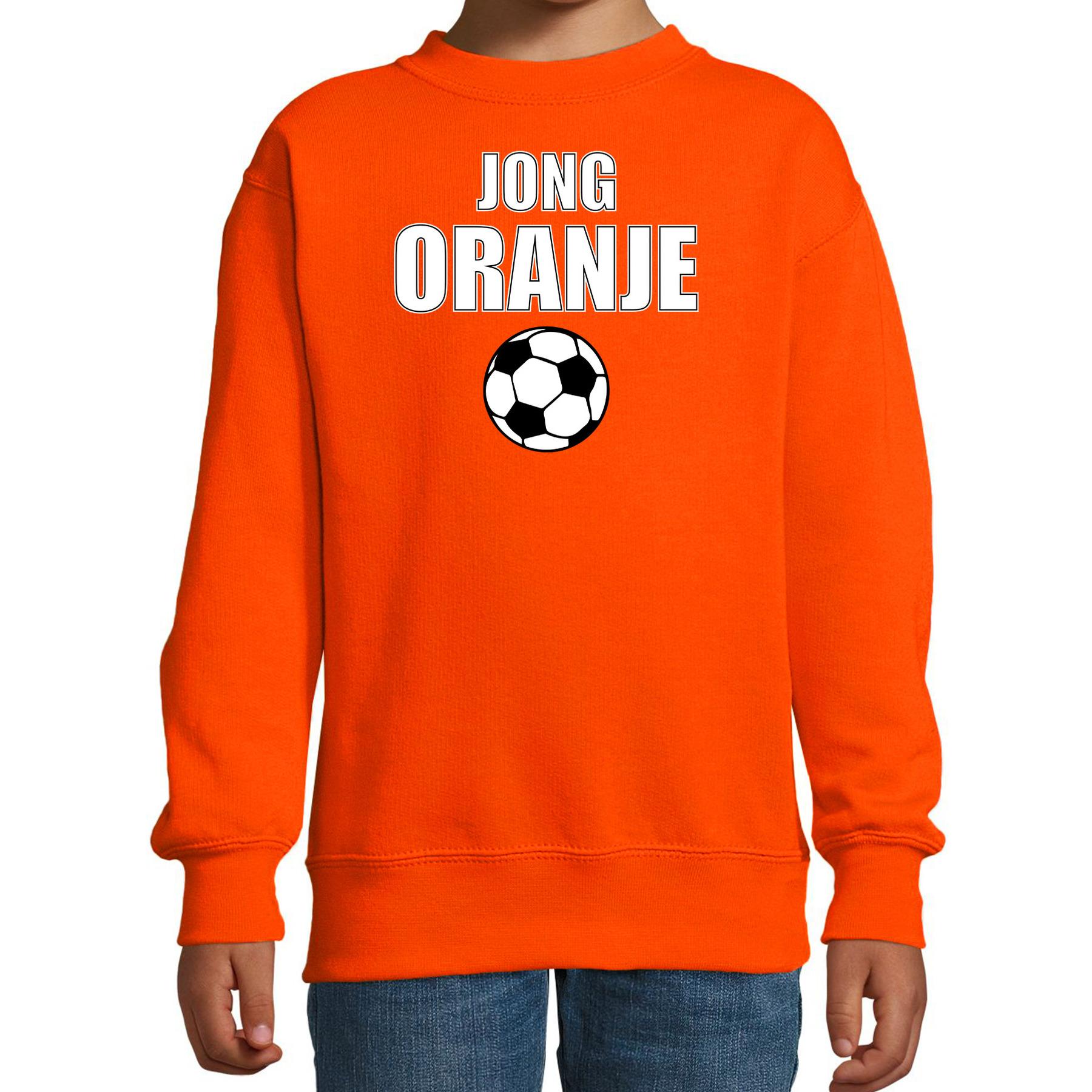 Jong oranje sweater - trui Holland - Nederland supporter EK/ WK fan oranje voor kinderen