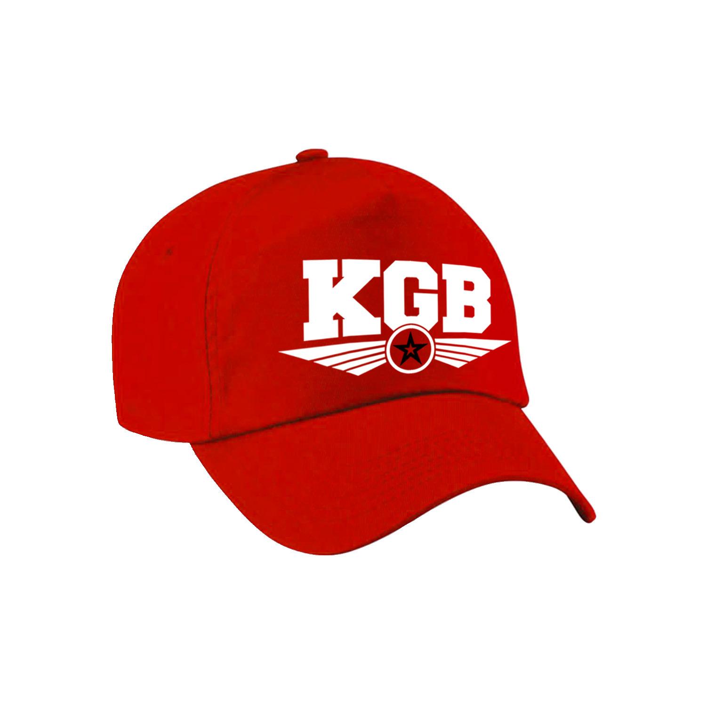 KGB agent tekst pet - baseball cap rood voor kinderen