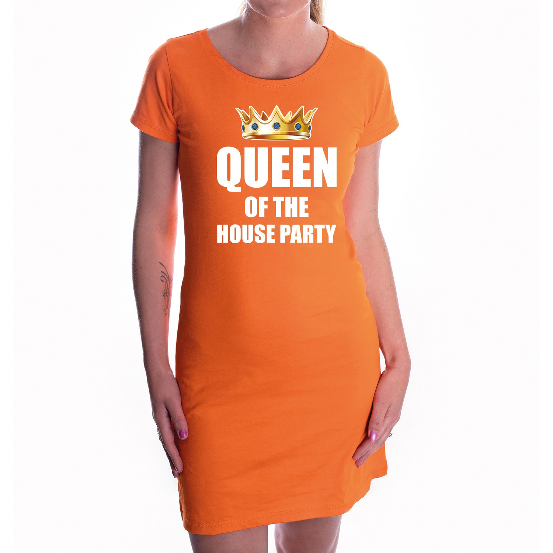 Koningsdag jurk oranje queen of the house party voor dames