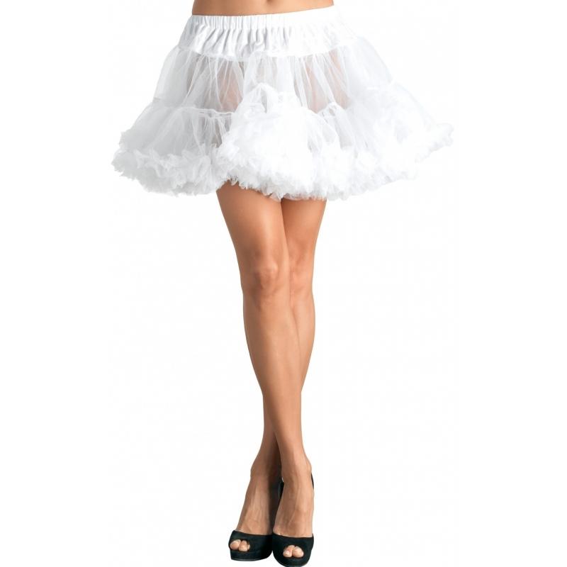 Korte witte petticoat 40 cm