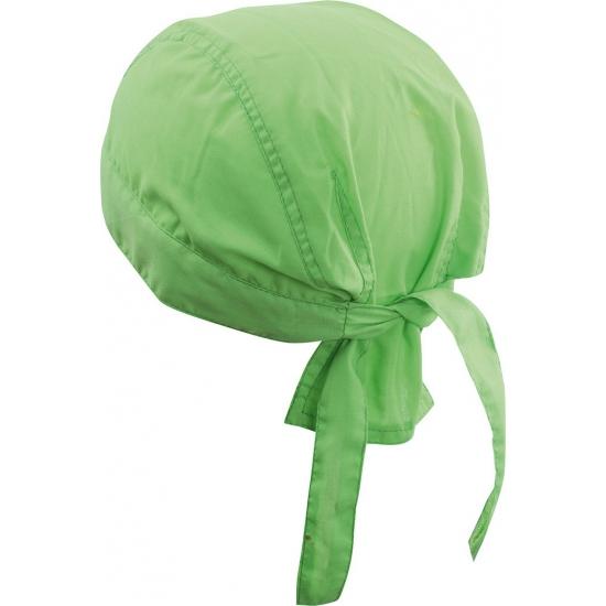 Lime groene hoofddoeken uni 1