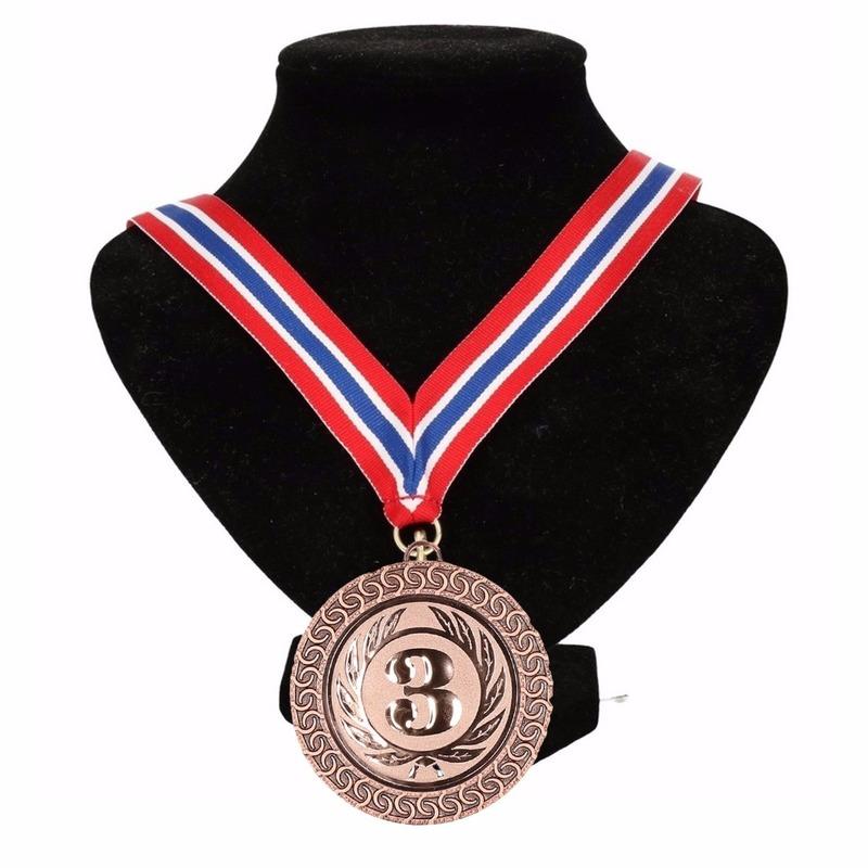 Lint rood/wit/blauw met bronze medaille