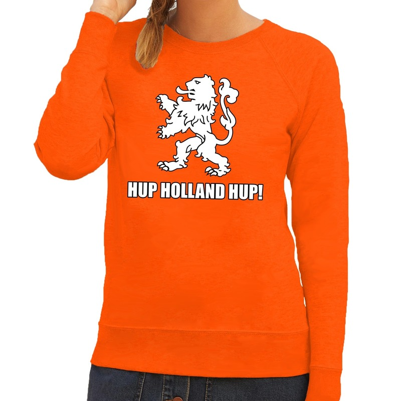 Nederland supporter sweater Hup Holland Hup oranje voor dames