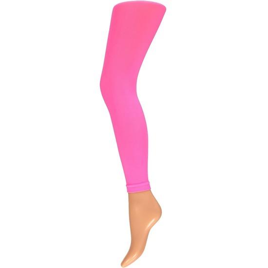 Neon roze legging 60 denier voor dames