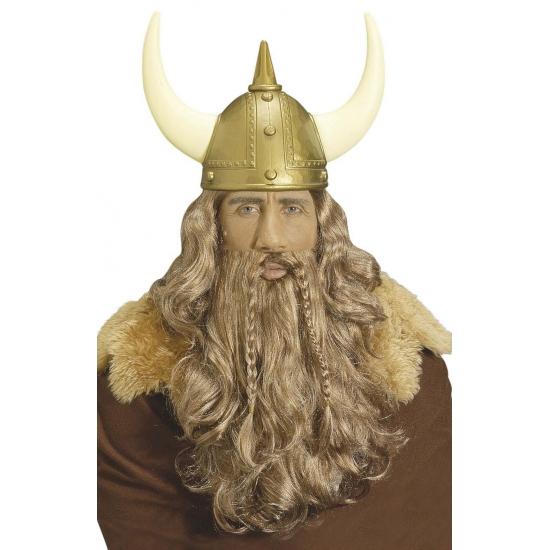 Noormannen pruik met baard en snor