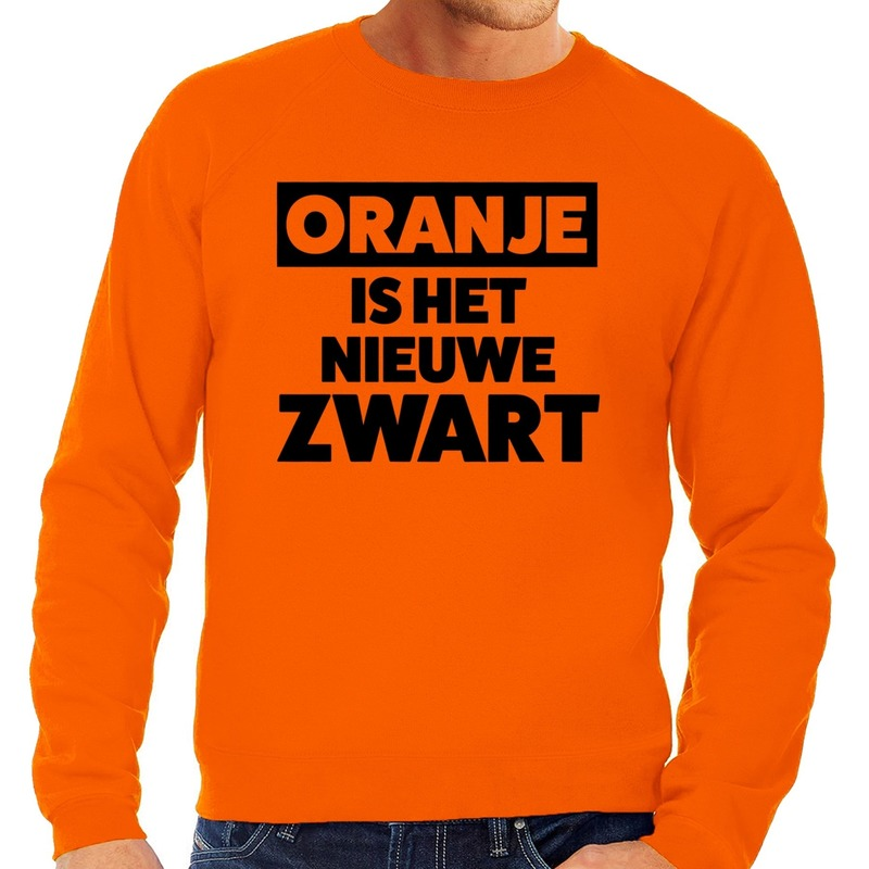 Oranje Koningsdag Oranje is het nieuwe zwart sweater heren