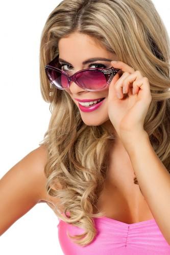 Paarse brillen met glitters voor volwassenen