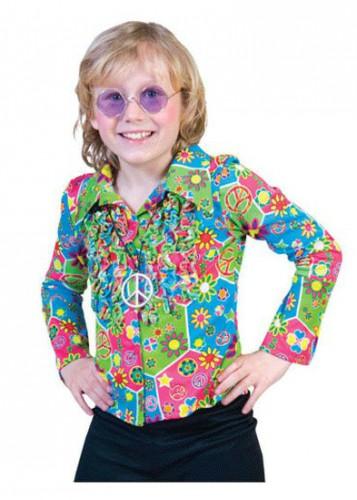 Peace hippie kinder blouse