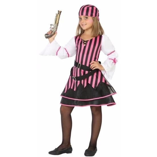 Piraten kostuum voor meisjes roze