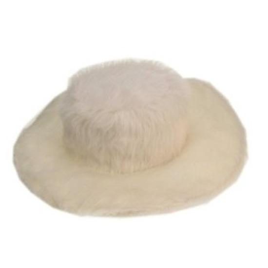 Pluche witte pimp hoed voor volwassenen