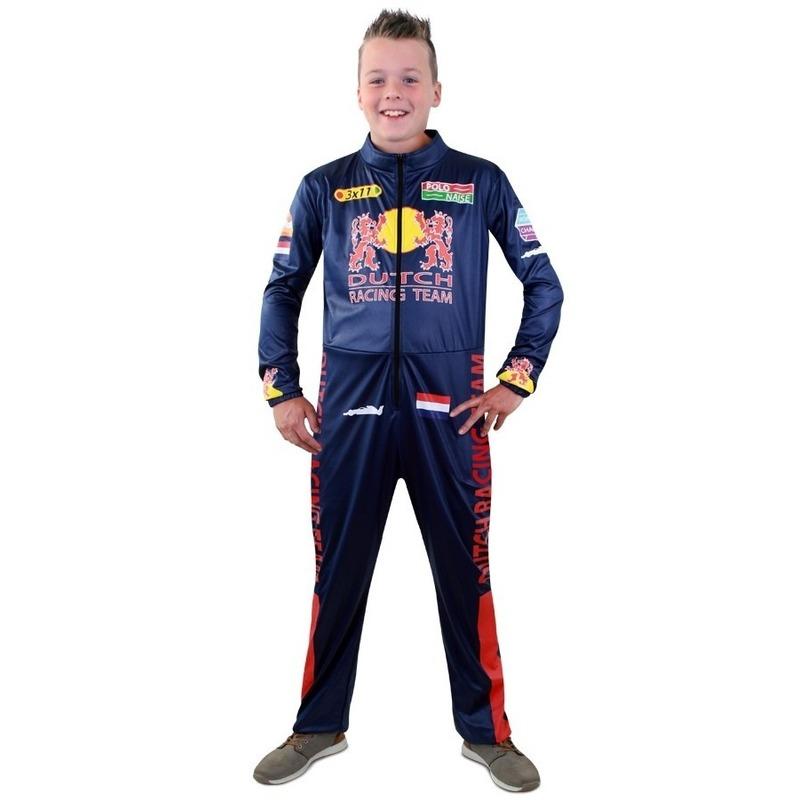 Race coureur verkleed overall voor jongens