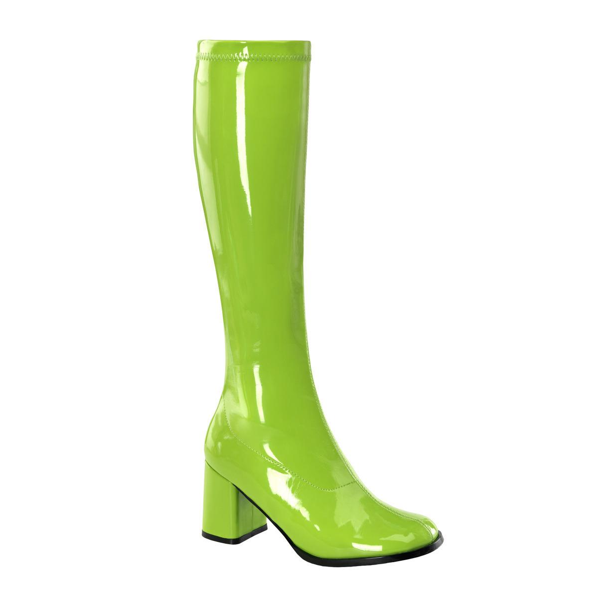 Retro dames laarzen groen