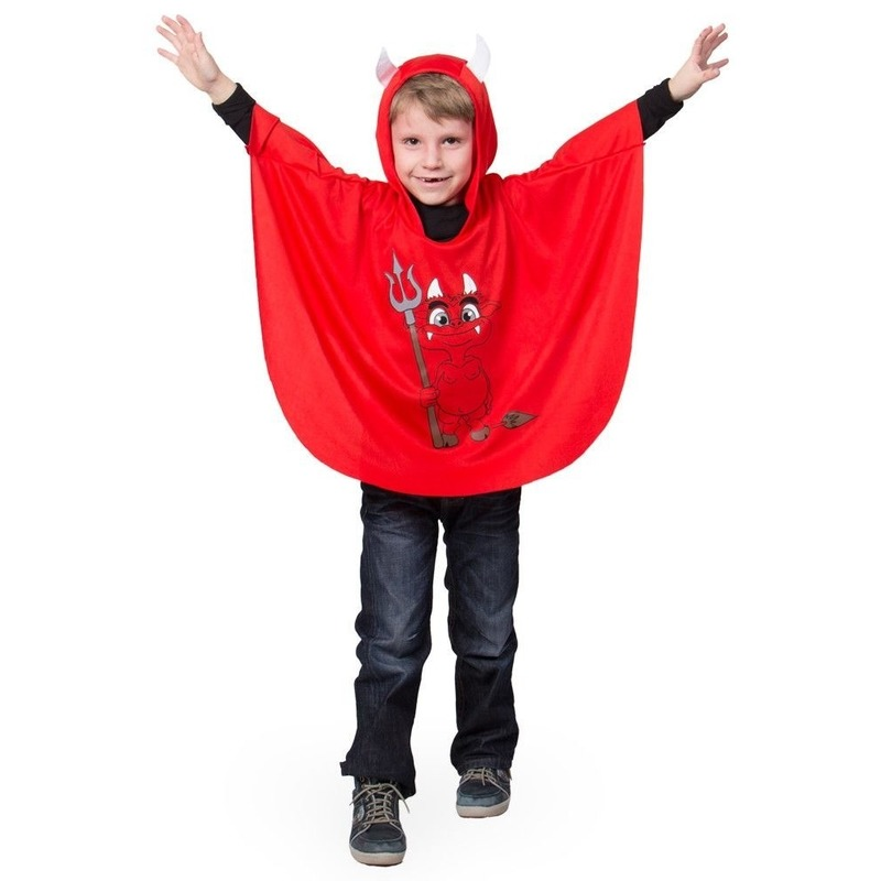 Rode duivel verkleed cape voor kinderen