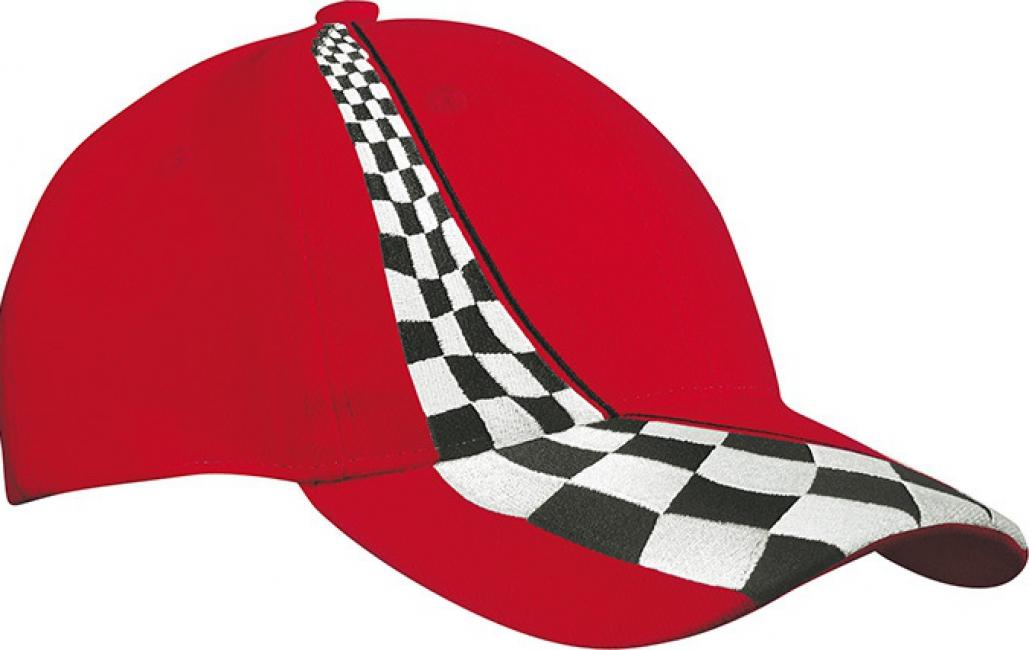 Rood race petje voor volwassenen