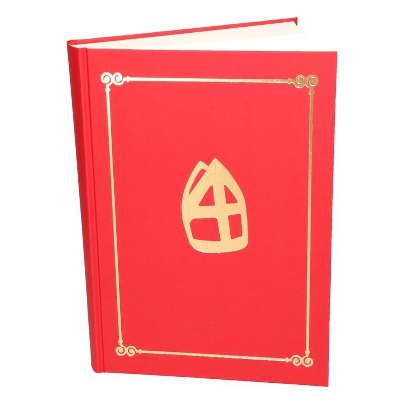 Rood Sinterklaasboek met mijter 350 paginas