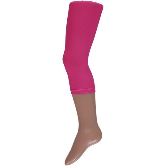 Roze driekwart legging voor meisjes