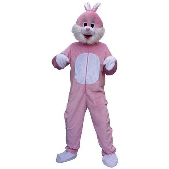 Roze konijnen kostuum