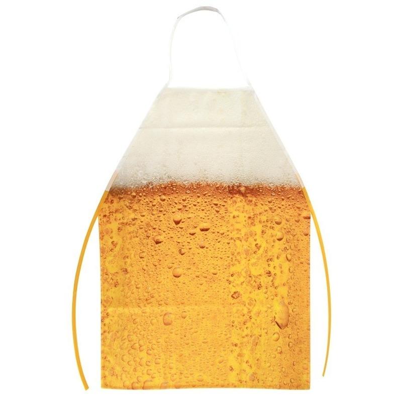 Schort met bier patroon one size